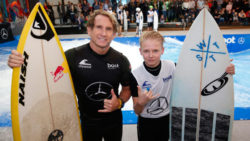 Ben meets Robby Naish at boot Düsseldorf / (c) MD / CTillmann