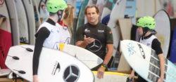 Robby Naish mit Ben Lehmann auf THE WAVE, boot 2019 / (c) MD / CT