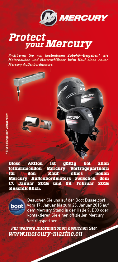 Mercury Marine - Protect your Mercury Aktion 2015