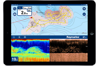 SonarChart Live on Raymarine