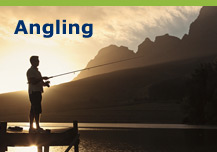 Angling, sport fishing, game fishing & angling gear