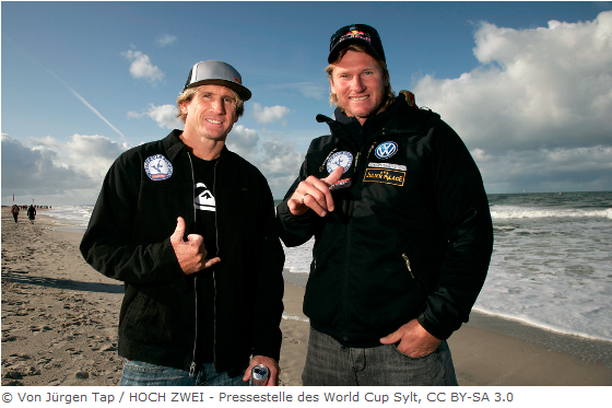 Robby Naish (links) & Bjørn Dunkerbeck beim Windsurf World Cup Sylt 2009