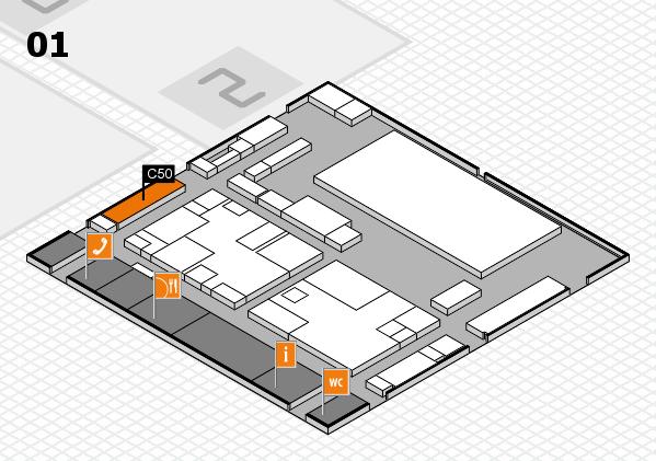 boot 2017 hall map (Hall 1): stand C50