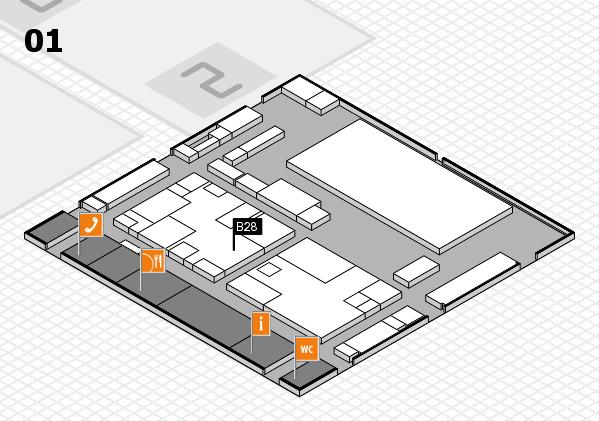 boot 2017 hall map (Hall 1): stand B28