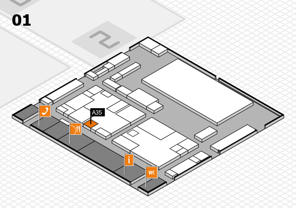 boot 2017 hall map (Hall 1): stand A35