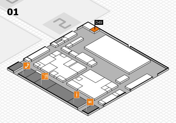 boot 2017 hall map (Hall 1): stand D49