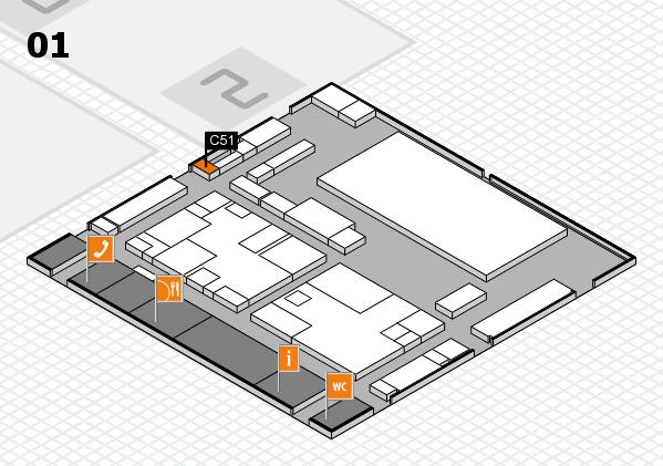 boot 2017 hall map (Hall 1): stand C51