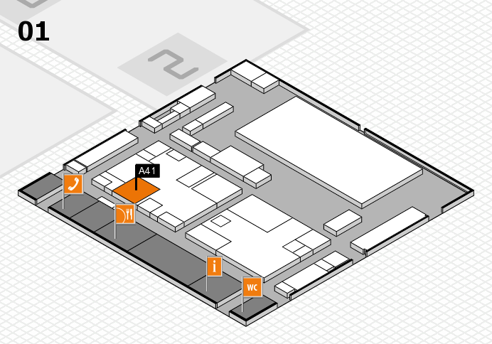 boot 2017 hall map (Hall 1): stand A41