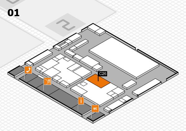 boot 2017 hall map (Hall 1): stand C26