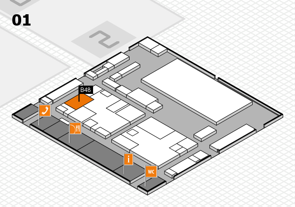 boot 2017 hall map (Hall 1): stand B48