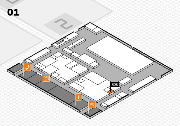 boot 2017 hall map (Hall 1): stand B08