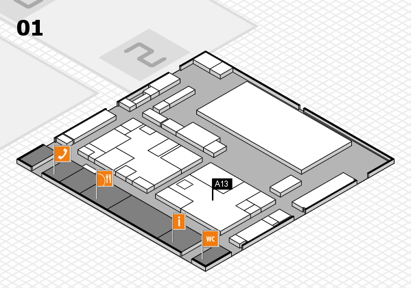 boot 2017 hall map (Hall 1): stand A13