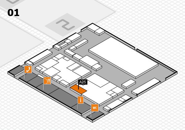 boot 2017 hall map (Hall 1): stand A25