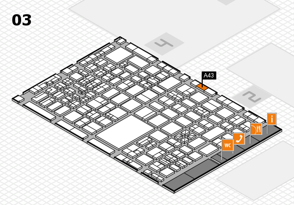 boot 2017 hall map (Hall 3): stand A43