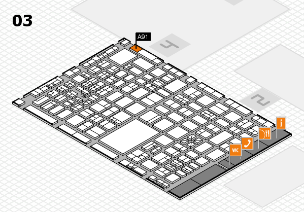 boot 2017 hall map (Hall 3): stand A91