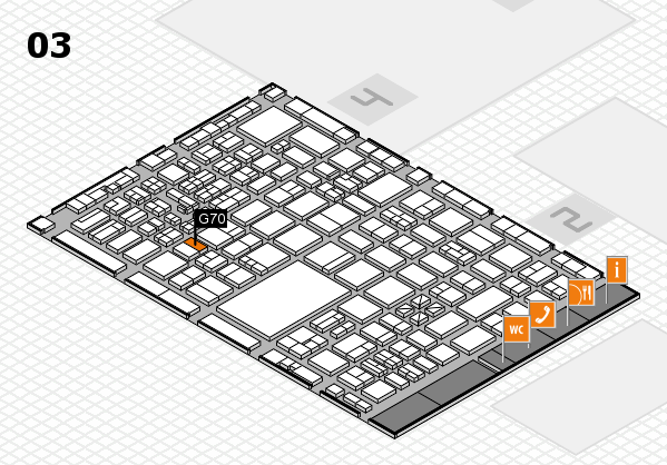 boot 2017 hall map (Hall 3): stand G70