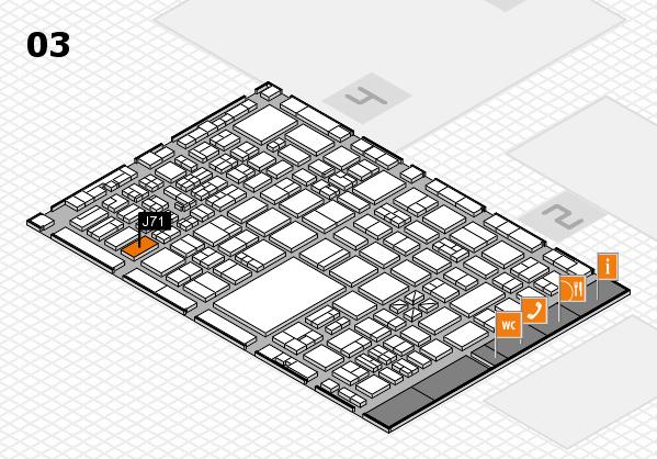 boot 2017 hall map (Hall 3): stand J71
