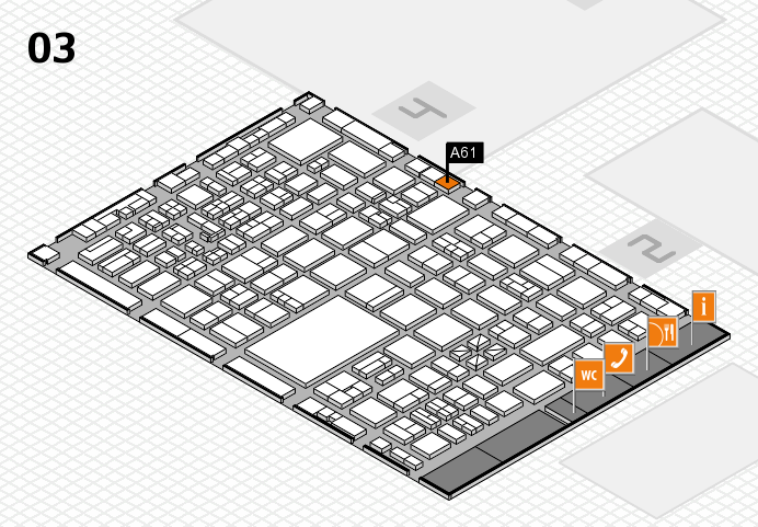boot 2017 hall map (Hall 3): stand A61