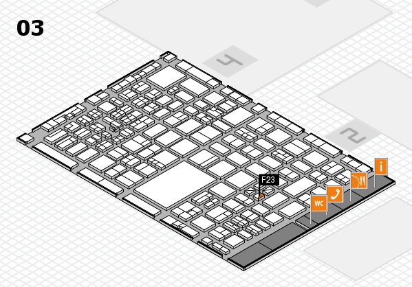 boot 2017 hall map (Hall 3): stand F23