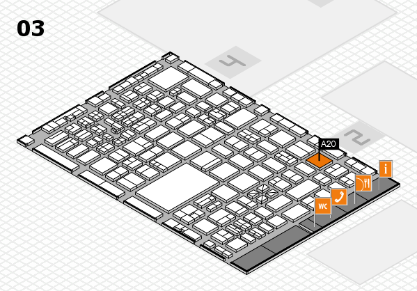 boot 2017 hall map (Hall 3): stand A20