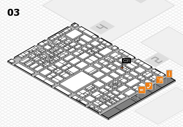 boot 2017 hall map (Hall 3): stand C31