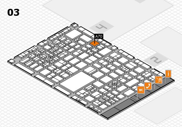 boot 2017 hall map (Hall 3): stand A70