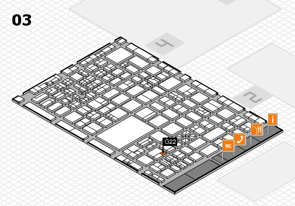 boot 2017 hall map (Hall 3): stand G22