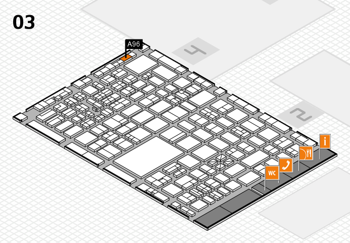 boot 2017 hall map (Hall 3): stand A96