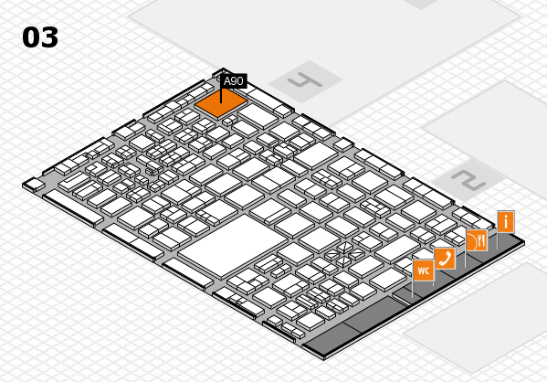 boot 2017 hall map (Hall 3): stand A90