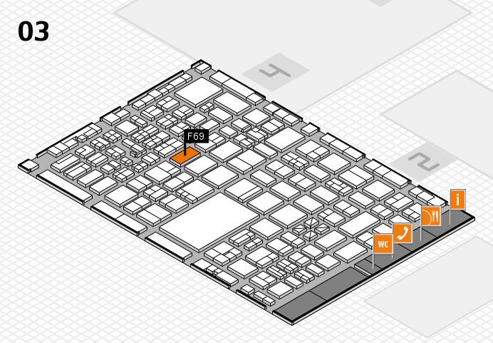boot 2017 hall map (Hall 3): stand F69