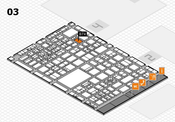 boot 2017 hall map (Hall 3): stand B74