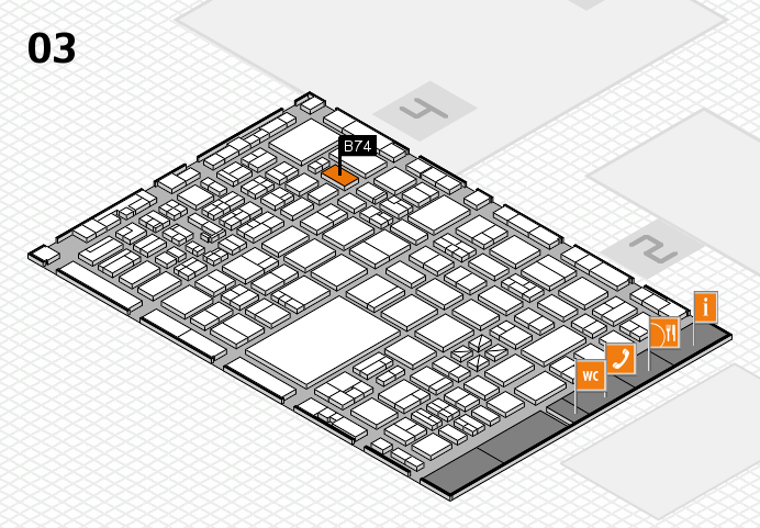 boot 2017 hall map (Hall 3): stand B74