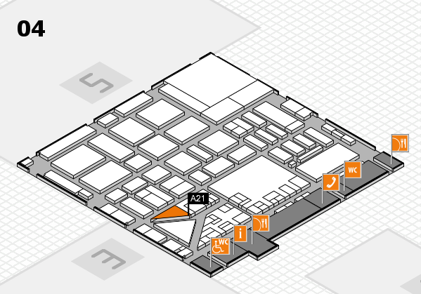 boot 2017 hall map (Hall 4): stand A21