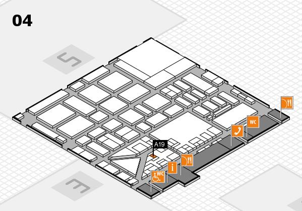 boot 2017 hall map (Hall 4): stand A19