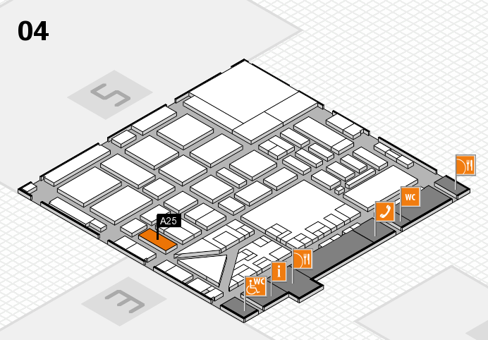 boot 2017 hall map (Hall 4): stand A25