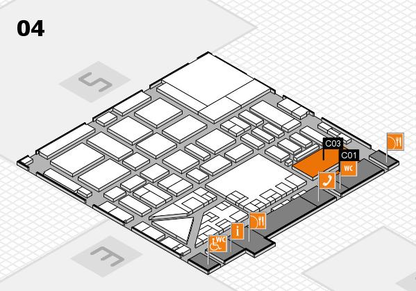 boot 2017 hall map (Hall 4): stand C01, stand C03