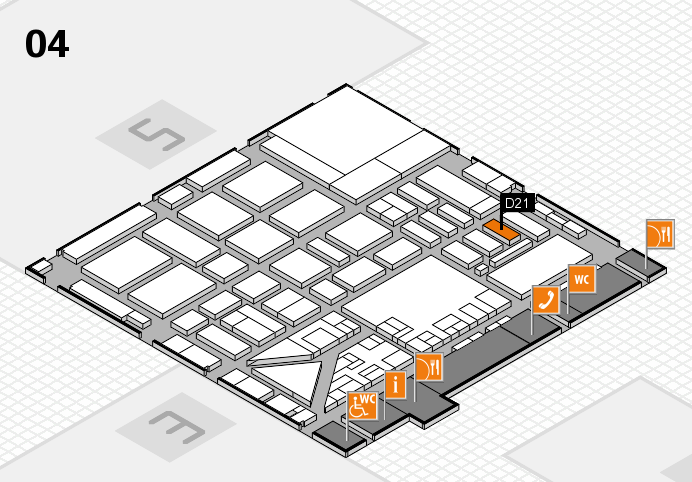 boot 2017 hall map (Hall 4): stand D21