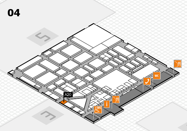 boot 2017 hall map (Hall 4): stand A20