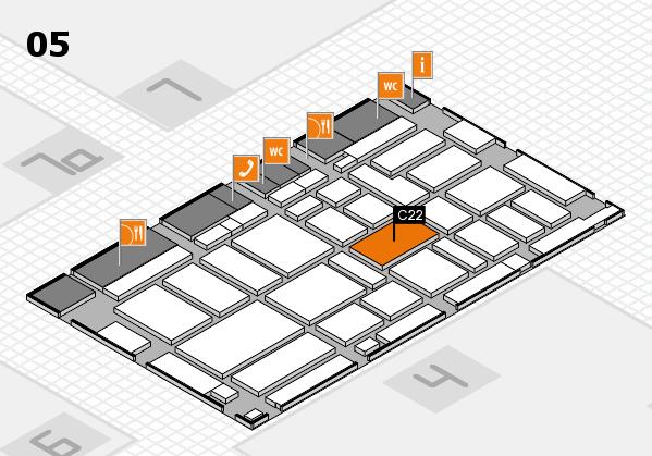 boot 2017 hall map (Hall 5): stand C22