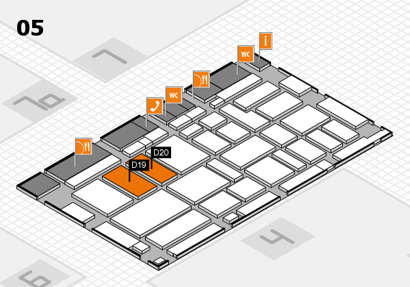 boot 2017 hall map (Hall 5): stand D19, stand D20