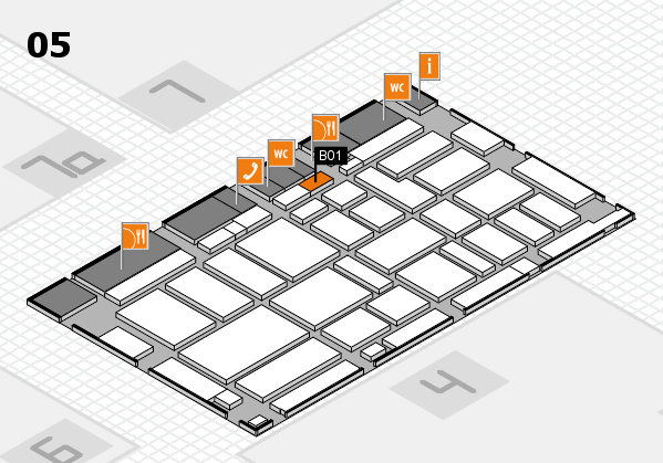 boot 2017 hall map (Hall 5): stand B01