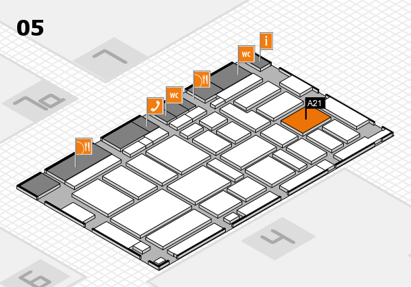 boot 2017 hall map (Hall 5): stand A21