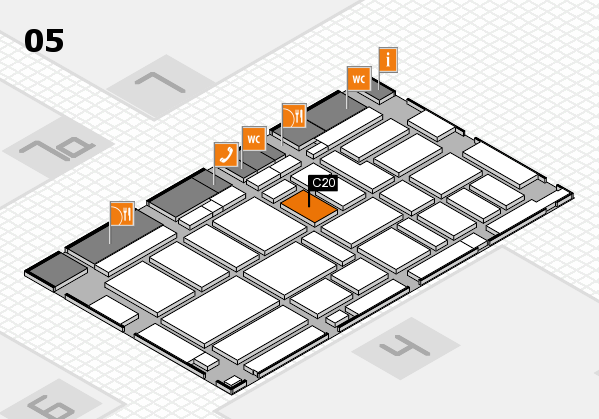 boot 2017 hall map (Hall 5): stand C20