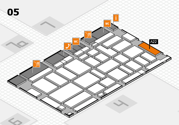 boot 2017 hall map (Hall 5): stand A22