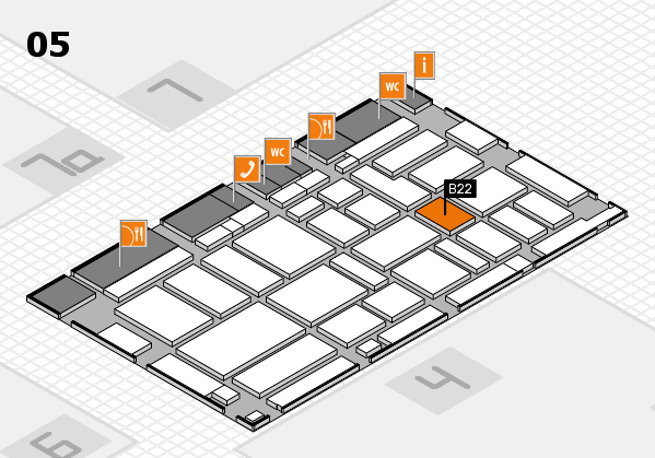 boot 2017 hall map (Hall 5): stand B22
