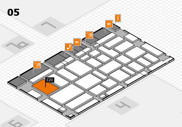boot 2017 Hallenplan (Halle 5): Stand E20