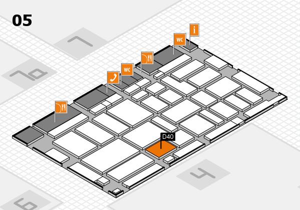 boot 2017 hall map (Hall 5): stand D40