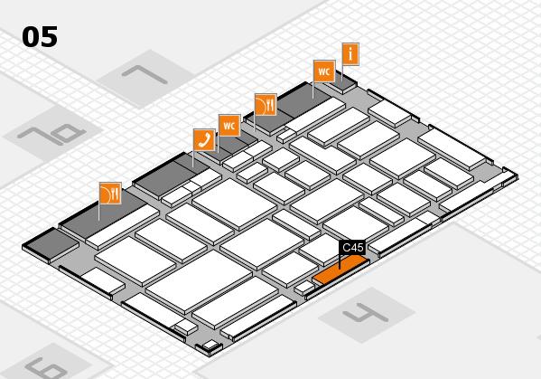 boot 2017 hall map (Hall 5): stand C45