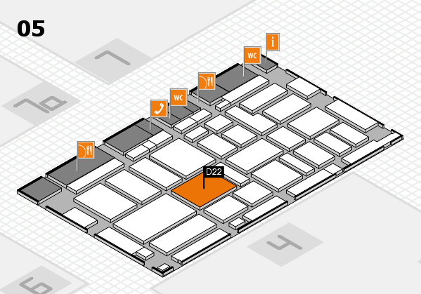 boot 2017 hall map (Hall 5): stand D22