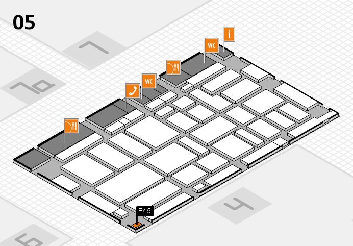 boot 2017 hall map (Hall 5): stand E45